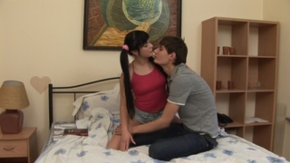 First pussy banging of lustful Olesya