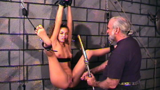 Girl Is Spread And Flogged