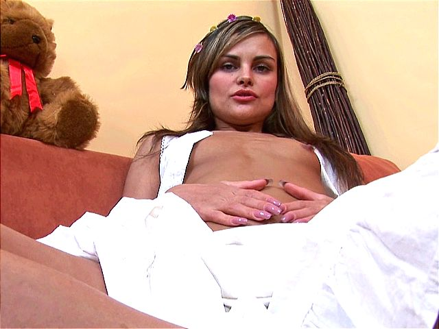 Gorgeous amateur girl touching her amazing body with lust on the couch Amateur Girls Unleashed XXX Porn Tube Video Image