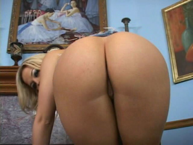 Gorgeous blondie in jeans skirt Alexis Texas strips panties and shows her bubble booty Pimp Passport XXX Porn Tube Video Image