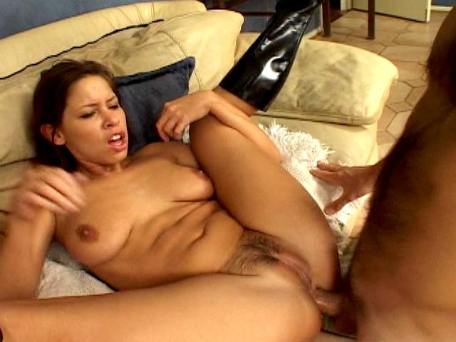 Gorgeous brunette army babe Haley Paige getting sexy ass licked hard
