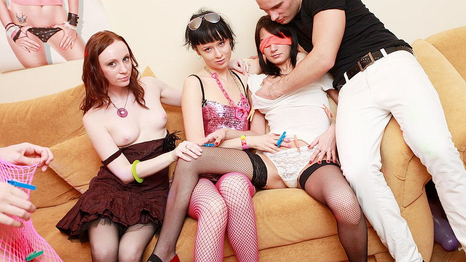Group fucking at sex party