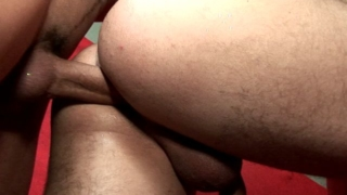 Handsome brunette twinks Kaike Brito And Luiggi Knowles fucking butts at the bar