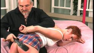 Heavy bullwhip spanking