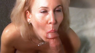 Hirsute MILF Gives A Blowjob