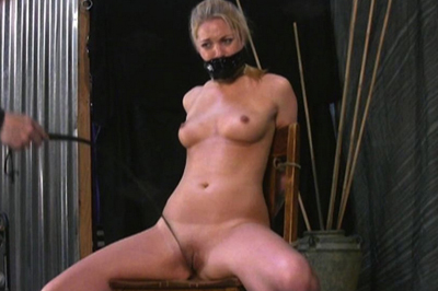 Hollie with legs spread BDSM Tryouts XXX Porn Tube Video Image