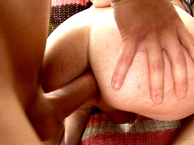 Horny brunette gay Albert getting booty smashed by Tommy's gigantic pecker in doggy style