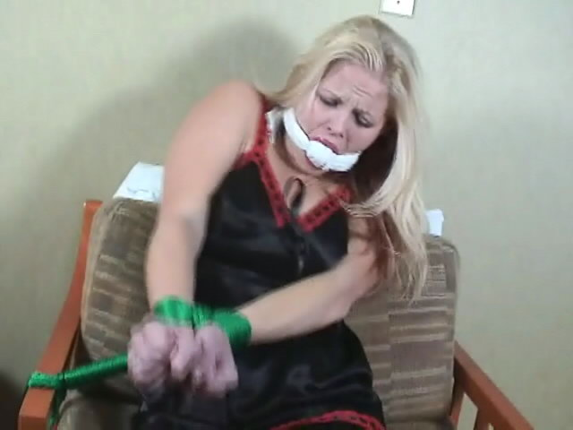 Hot blonde slave Debra gets tied up on the chair Dungeon Masters XXX Porn Tube Video Image