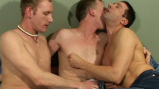 Hot Brunette Gay Adam Getting Impossible Cock Sucked By Two Horny Dudes