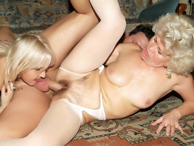 Hot Grandmas In Lingeries Threesome