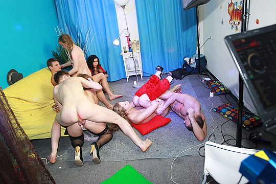 Hot group sex at fancy-dress party College Fuck Parties XXX Porn Tube Video Image