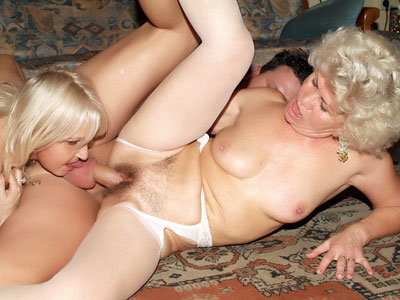 Hot Older Women Having a Three-Way Granny Ultra XXX Porn Tube Video Image