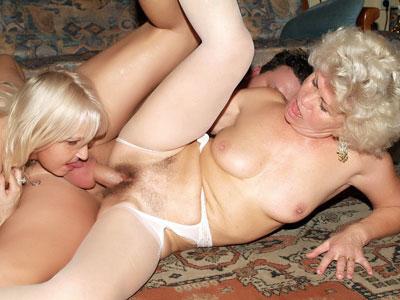Hot Older Women Having a Three-Way
