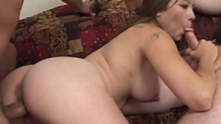 Hot Preggo Threesome Banging