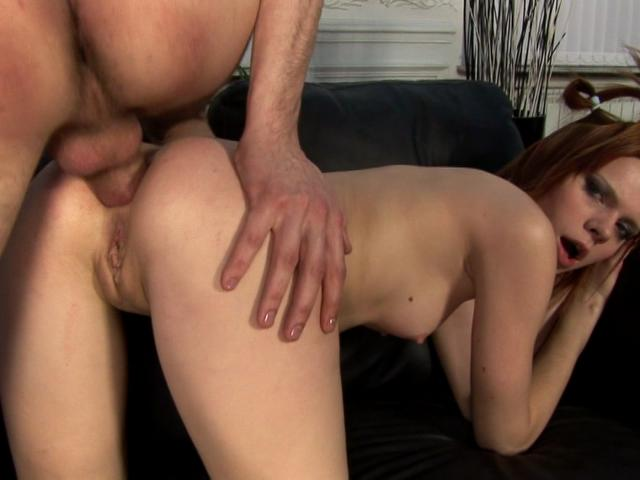 Hot Redheaded Wench Getting Skinny Arse Smashed Doggy Style Totally Redhead XXX Porn Tube Video Image