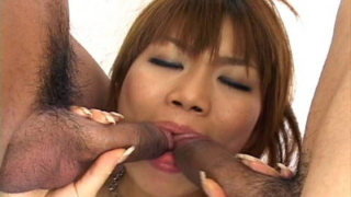 Hot sexy threeway with big tit Runa Sezaki