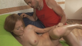 Huge dick gets sucked by a greedy month.