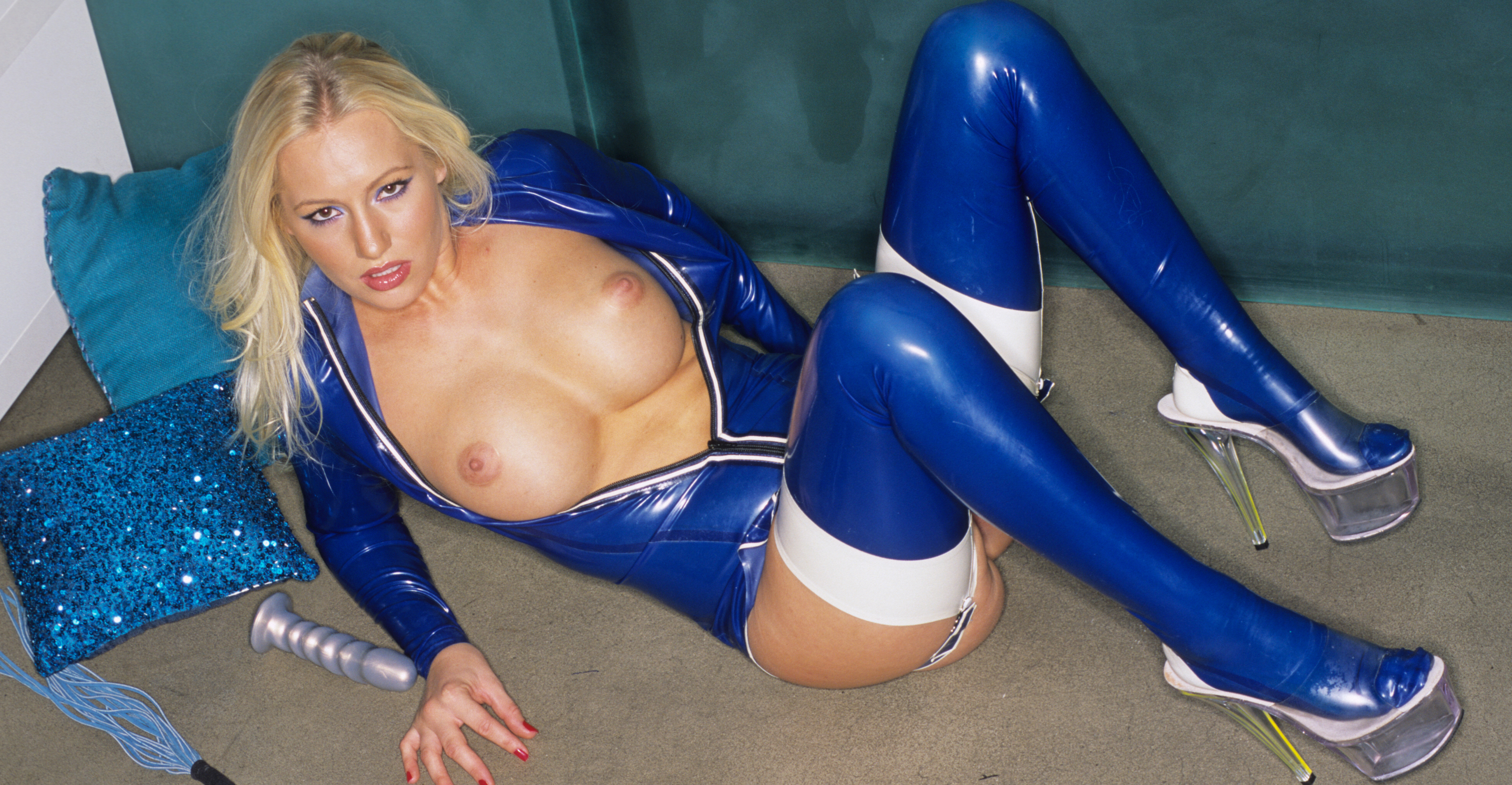 In Shimmering Blue Bizarre Video XXX Porn Tube Video Image