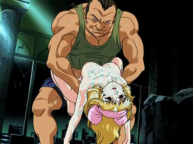 Incendiary blonde hentai babe getting fucked by a muscled stud