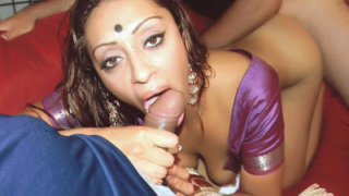Indian Babe Does A Three-Way