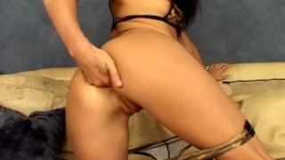 Irresistible Brunette Army Tramp Victoria Sin Fingering Her Asshole