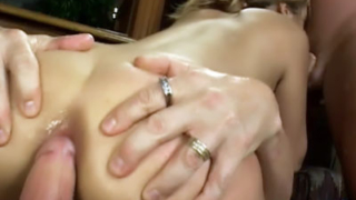 Kat Gets Three-Way Ass Filling
