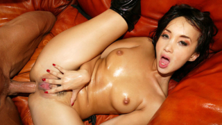 Katsuni enjoys ass licking and anal pleasure