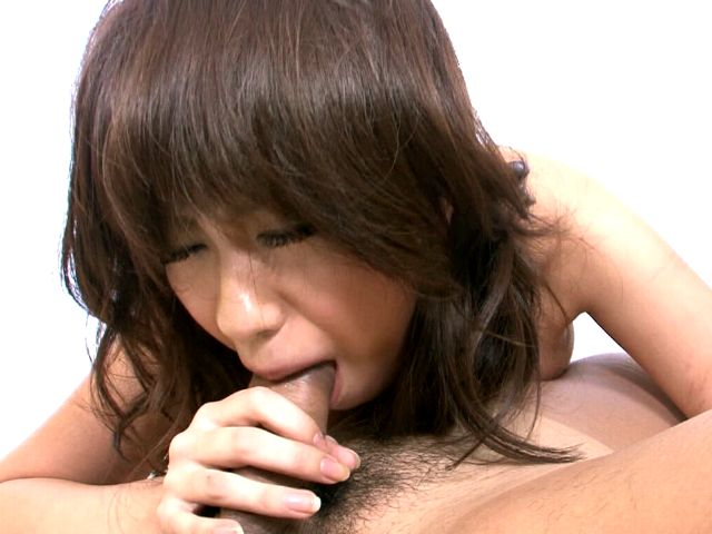 Kinky Japan nymphet Yui Komiya getting sweet hairy pussy fingered hard
