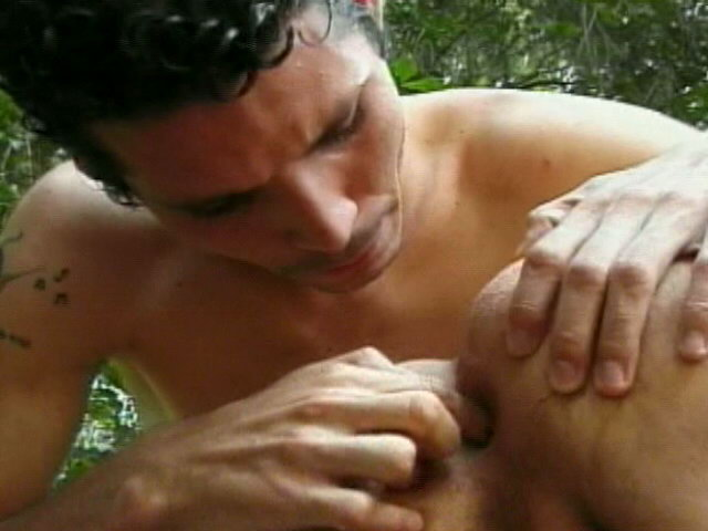 Kinky twinks Antonio And Ramos licking their ass cracks and sucking their cocks outdoors