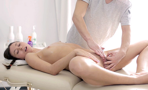 Lesya is fucked good on the massage table by his hard cock 18 Virgin Sex XXX Porn Tube Video Image