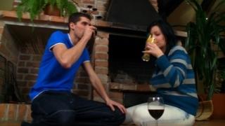 Linda's boyfriend fucks her tits.