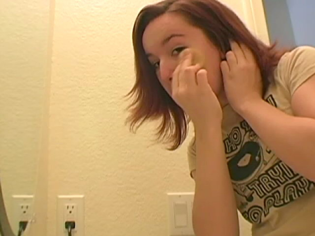 Lovable redhead teen Annabella getting ready for you in the mirror Sweet Annabella XXX Porn Tube Video Image