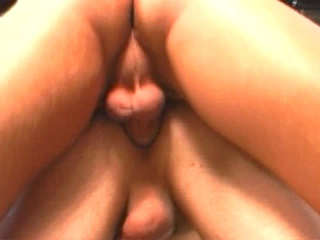 Lucky gay getting anally fucked and cumshoted by two horny guys
