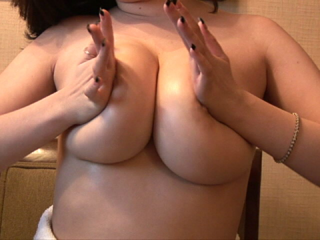 Lustful Babe Haley Playing With Her Giant Knockers For You Busty Haley XXX Porn Tube Video Image