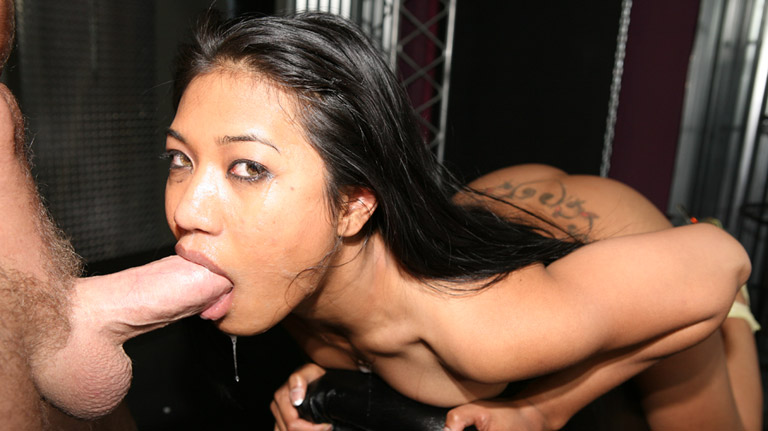 Lyla Lei deep throats a thick and huge cock Blowjobs XXX Porn Tube Video Image