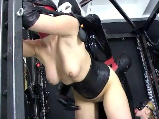 Masked Slave In Stockings Berki Gets Pussy Fucked By A Giant Cock In A Foursome Dungeon Masters XXX Porn Tube Video Image