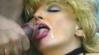 Mature Blonde Gets Cum Facial