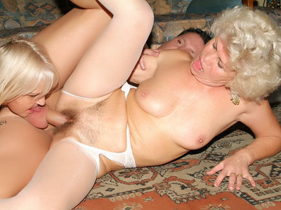 Matures In Lingeries Three-Way