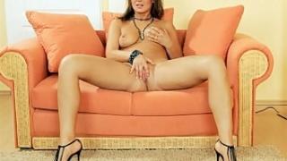 Nasty Brunette Spreading Her Pussy