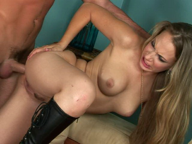 Naughty blonde mature stunner with big tits gets anally screwed from behind