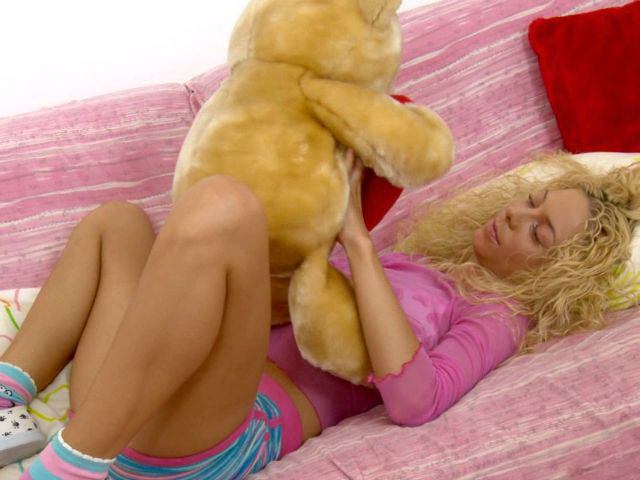 Naughty blonde Slovak teen vixen Bryana getting little pink pussy licked and fingered hard