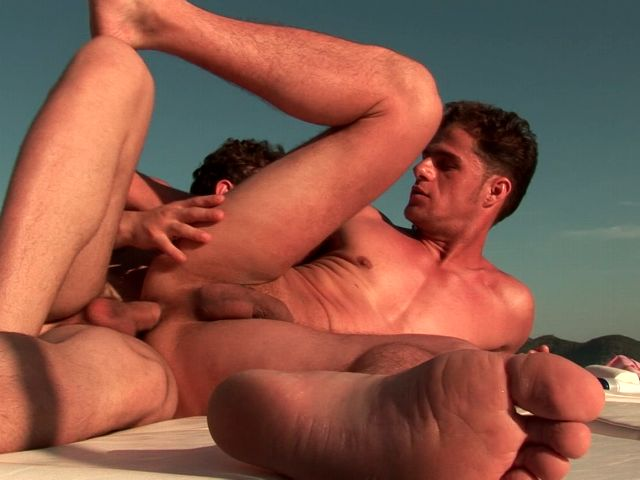 Naughty brunette gays Arcanjo And Eduardo screwing their asses on a boat Free Gay Porn Access XXX Porn Tube Video Image