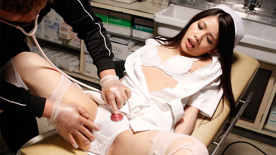 Naughty nurse slut getting her twat rammed