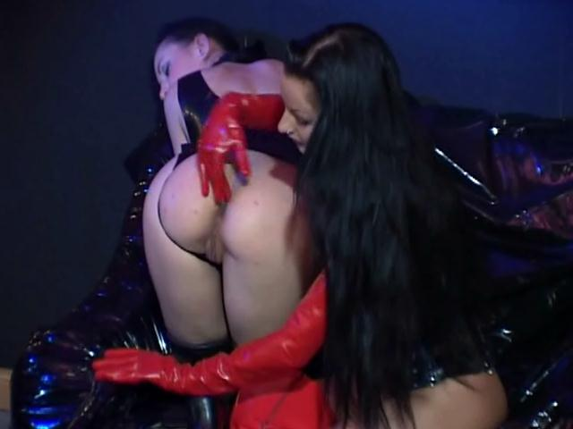 Naughty slave gets booty fucked by mistress with her high heels