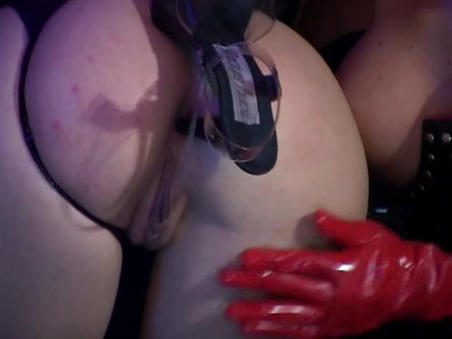 Naughty slave gets booty fucked by mistress with her high heels Dungeon Masters XXX Porn Tube Video Image