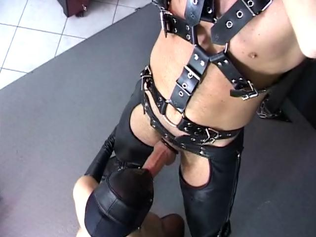 Naughty slave with leather mask Berki gives blowjob to a master and gets fucked