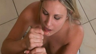 Naughty Teen Babe Harmony Rose Puts This White Pecker In Her Mouth And Uses Her Hands To Jerk It Off