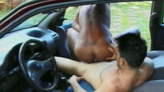 Naughty Twink Andre Riding Anally Wellington`s Huge Dick In The Car