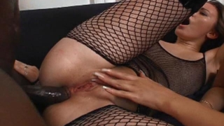 Naughty Whores In Fishnets Gabriella And Katya Gets Asses Black Fucked