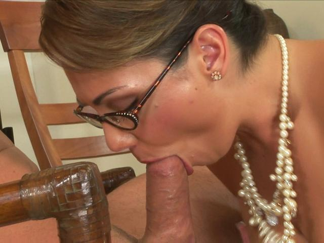 Needy secretary Holly West sucks this rock hard piece of meat